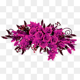 Purple bouquet, Fuchsia, Flowers, A Bouquet PNG Image and Clipart - Fuschia Flowers PNG