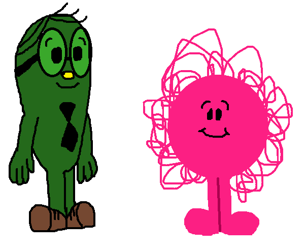 Mr. Fussy and Mr. Messy as Chilren by ChameleonCove PlusPng.com  - Fussy PNG