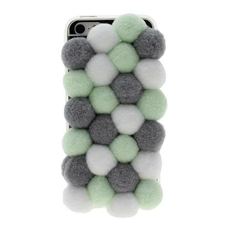 Fuzzy Green Puff Ball iPhone Case - Her Teen Dream PlusPng.com  - Fuzzy Ball PNG