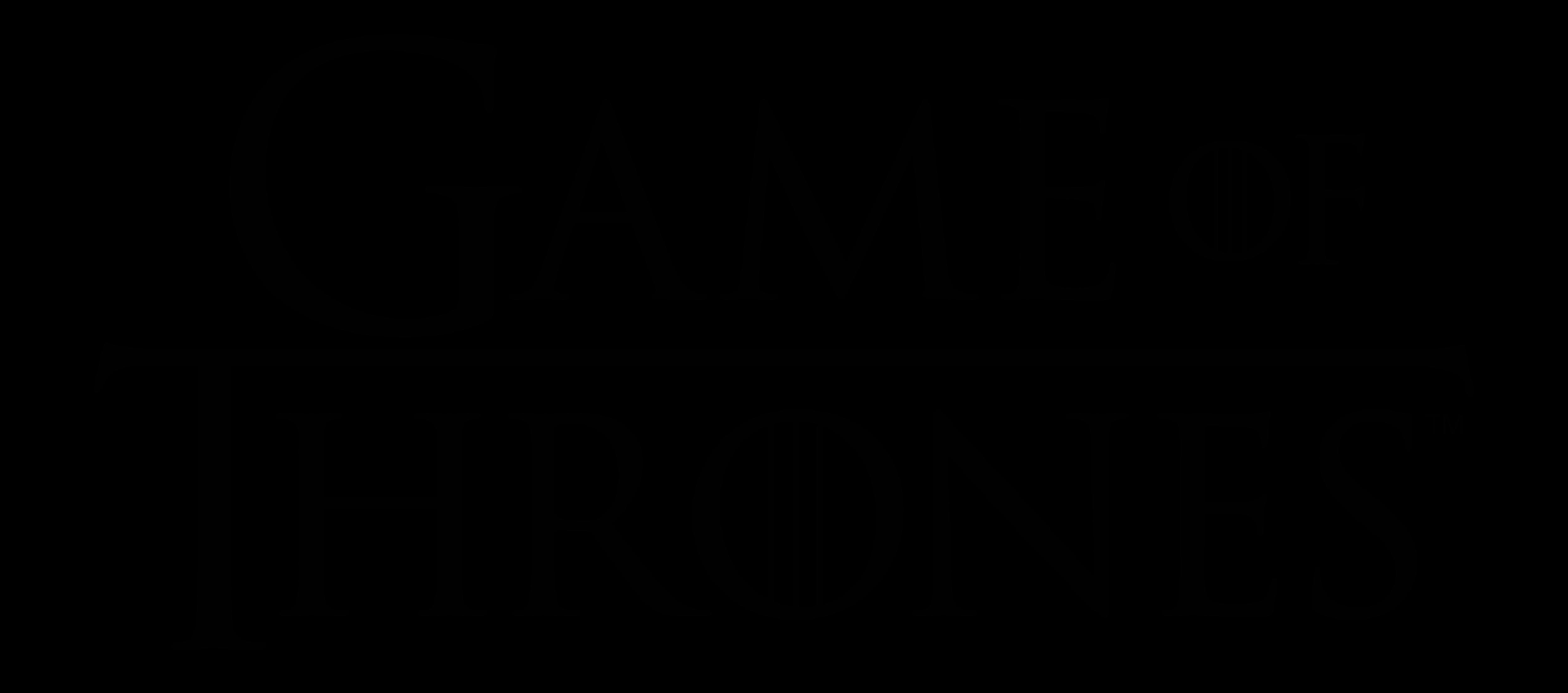 Game of Thrones logo, logotype, wordmark - Game Of Thrones Logo PNG