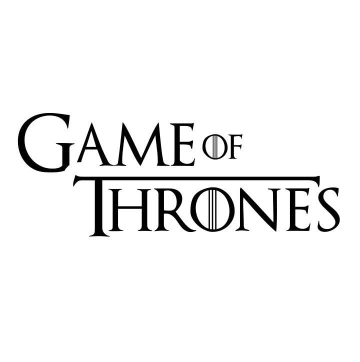 Game of Thrones logo, Vector