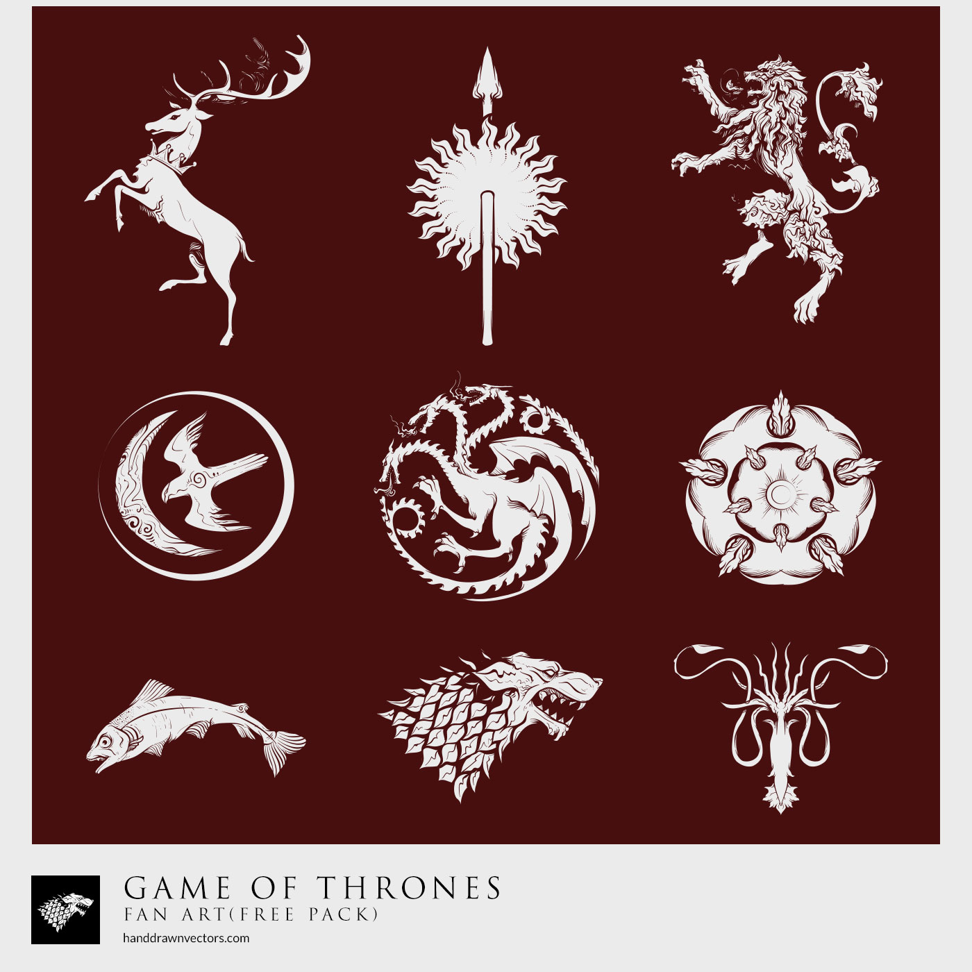. PlusPng.com Game-of-Thrones Sigil Collection Vector - Game Of Thrones Logo Vector PNG