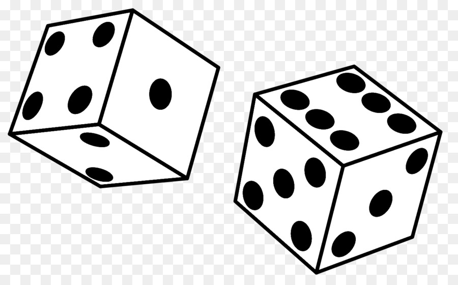 Black u0026 White Yahtzee Dice Clip art - Black Games Cliparts - Game PNG Black And White