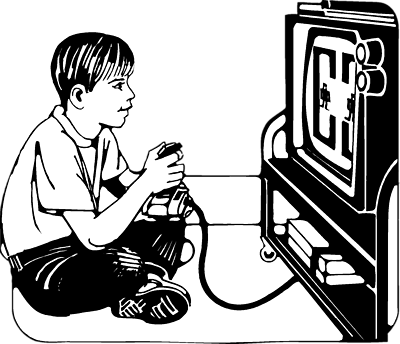 pin Video Game clipart lazy kid #1 - Lazy PNG Black And White - Game PNG Black And White