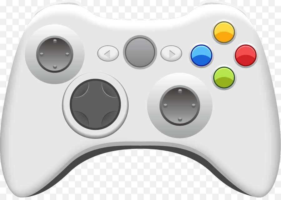 Video game console Xbox 360 controller Joystick - Vector gamepad - Gamepad PNG