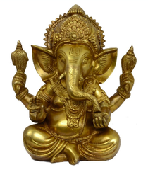 Brass Ganesha Statue - Ganesh Idol PNG