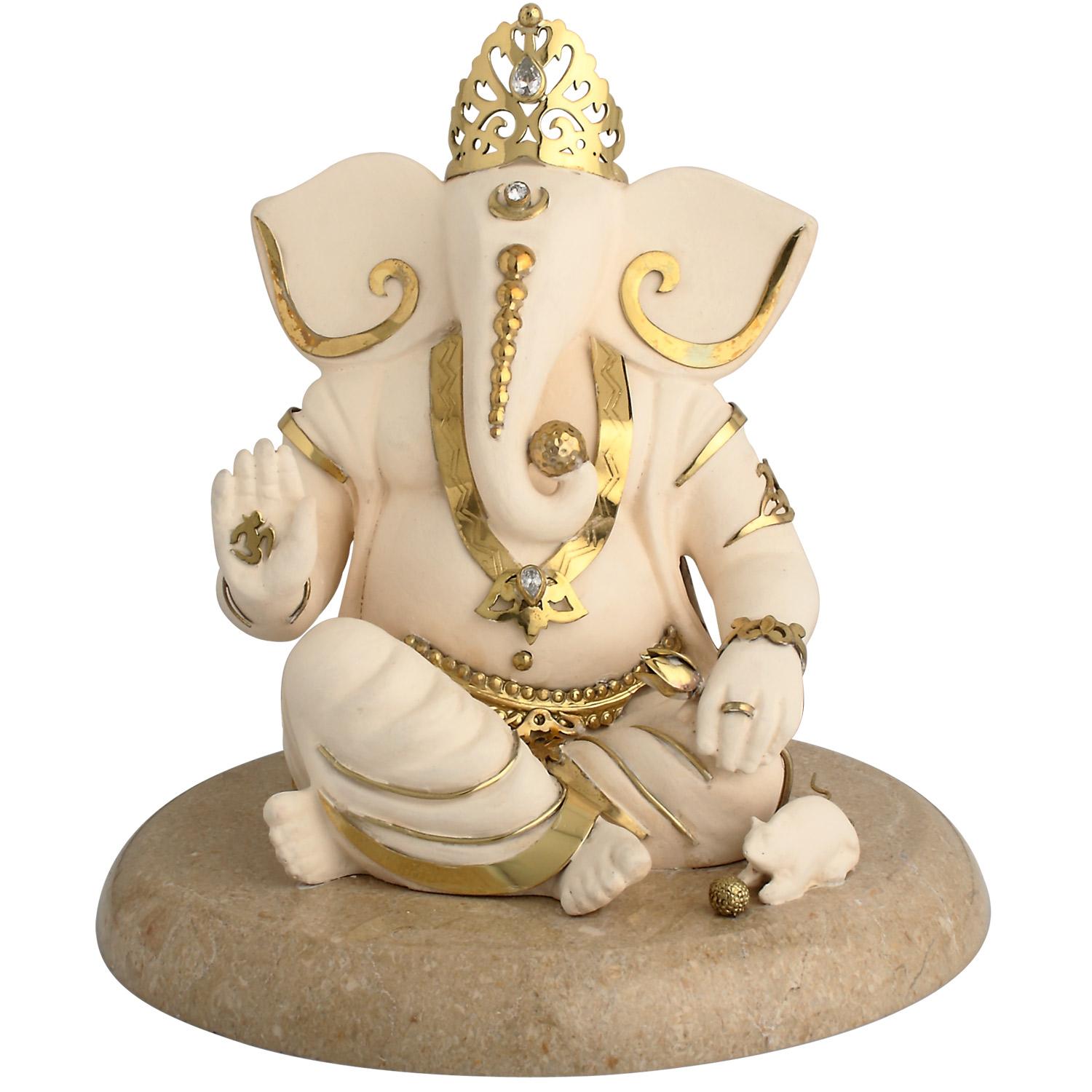 Ganesh Ashirwad Idol in Brass - Ganesh Idol PNG