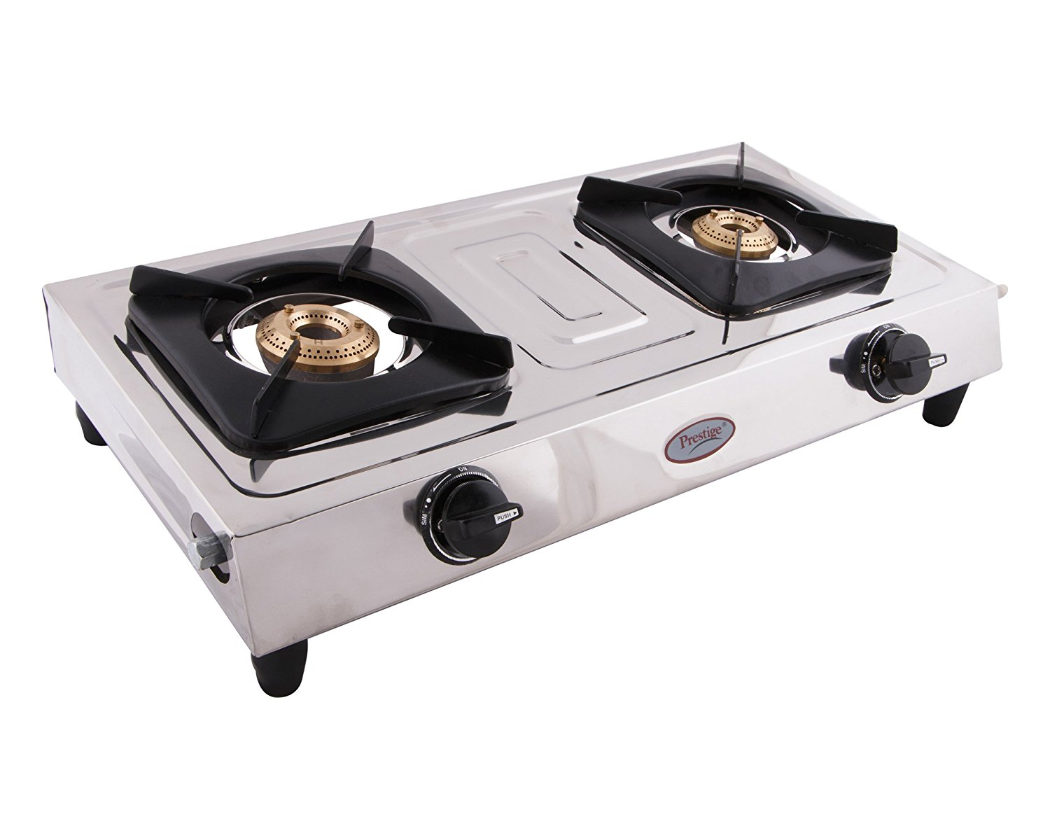 Buy Prestige Star Stainless Steel 2 Burner Gas Stove, Metallic Silver  Online at Low Prices in India - Amazon.in - Gas Stove With Cylinder PNG