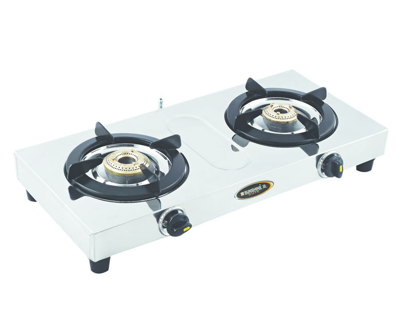 Sunshine Cute Double Burner Stainless Steel Gas Stove. Loading zoom.  Sunshine Cute Double Burner Stainless Steel Gas Stove - Gas Stove With Cylinder PNG