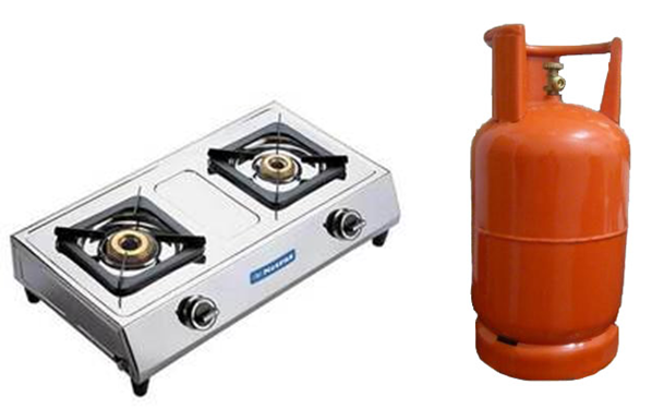 There are several benefits that come from using LPG (gas) stoves. They are  the most efficient type of stove available, the most convenient to use, PlusPng.com  - Gas Stove With Cylinder PNG