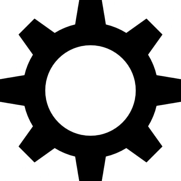 Gear black shape - Gear Logo Vector PNG