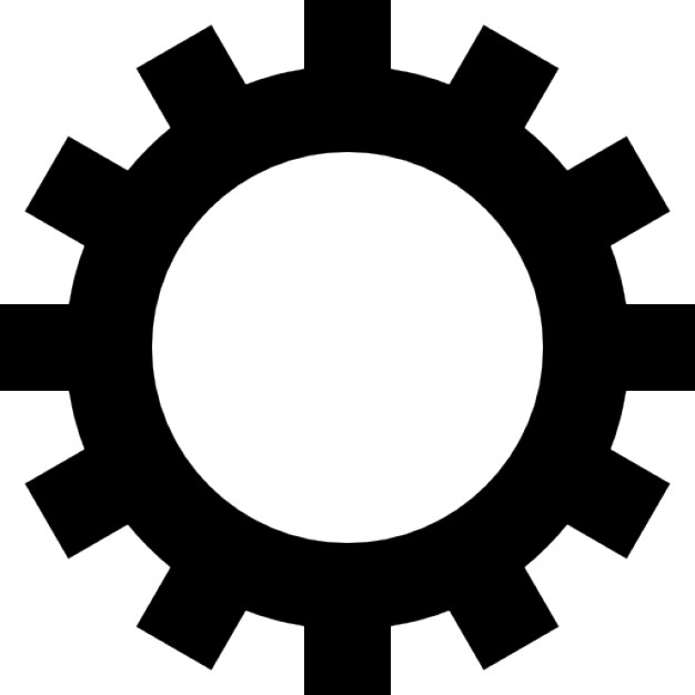 Gear wheel with cogs Free Icon - Gear Logo Vector PNG
