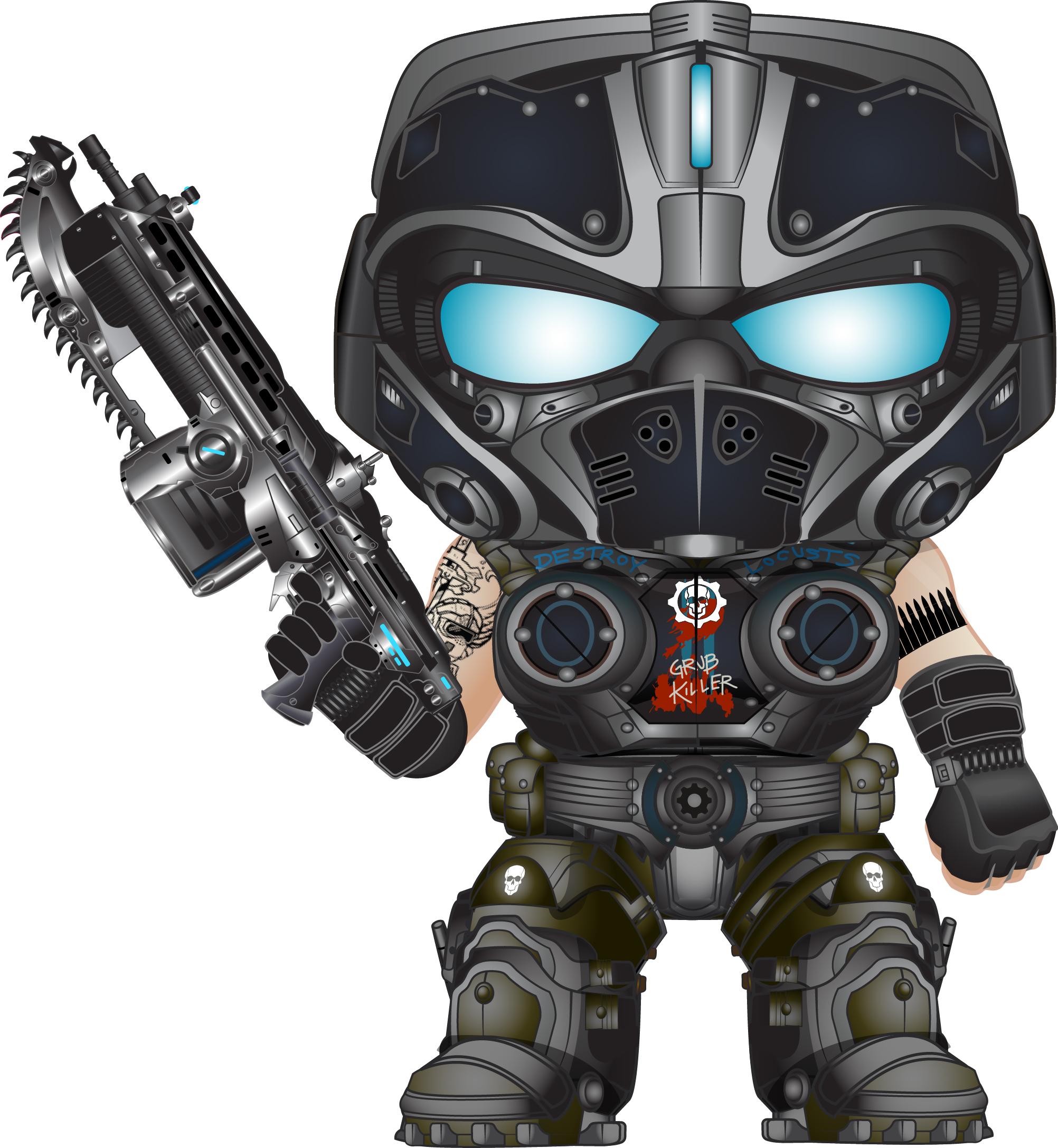 Del; HyperX CloudX Revolver Gears of War Gaming Headset Left Side View;  Funko Pop! - Gears Of War HD PNG