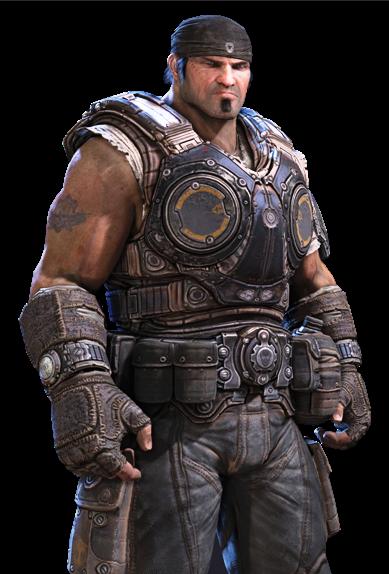 Gears of War 3 Personajes COG Marcus Fenix V2.png - Gears Of War PNG