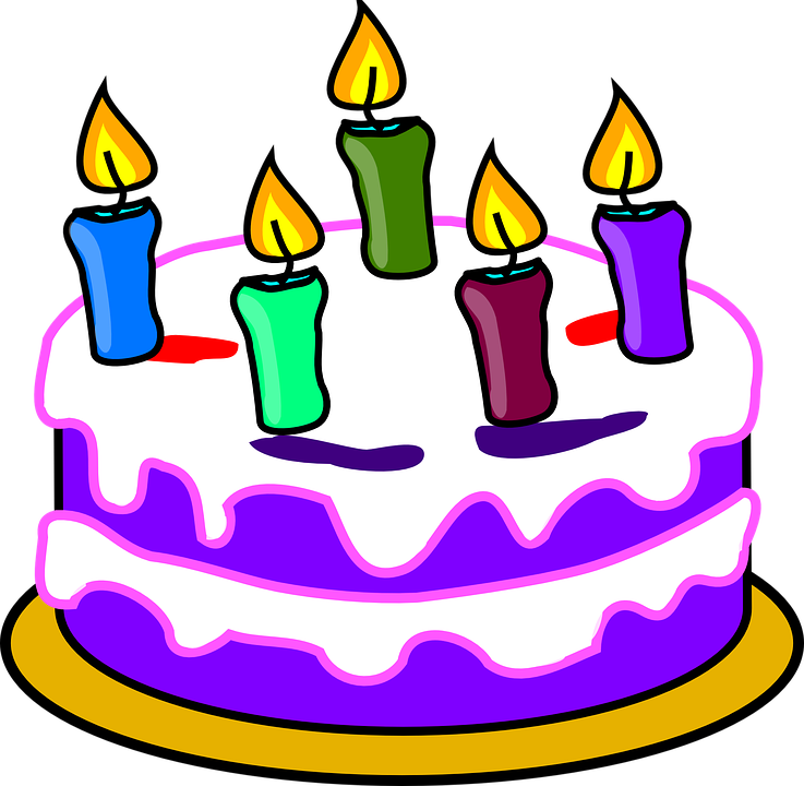 Geburtstagstorte, Kuchen, Ker