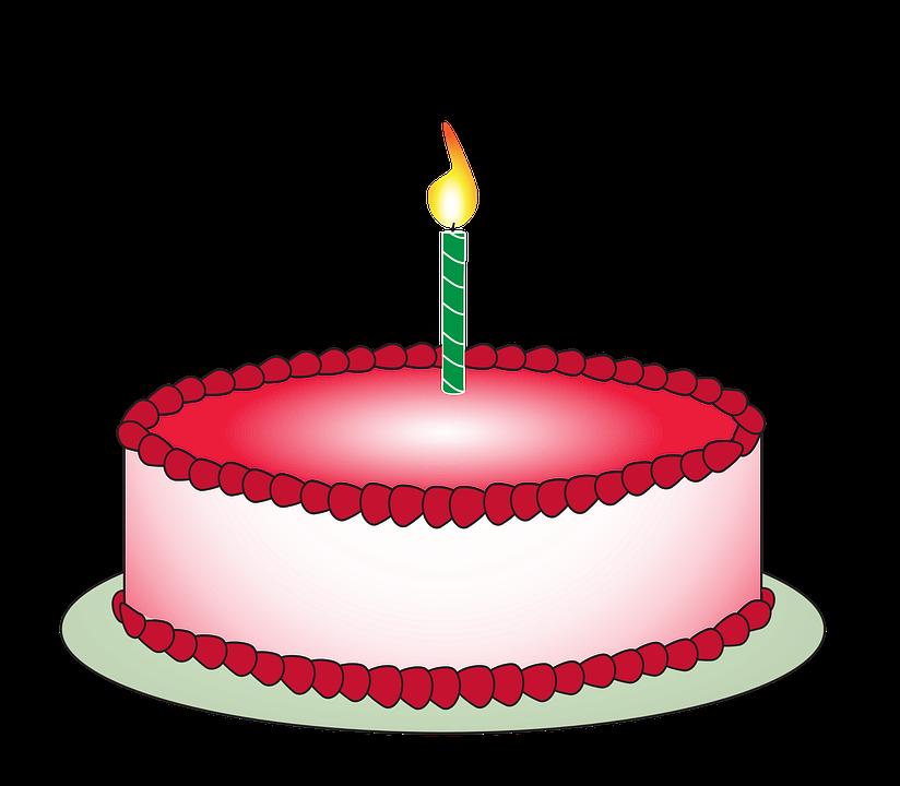 Kuchen, Geburtstag, Kerze, Ge