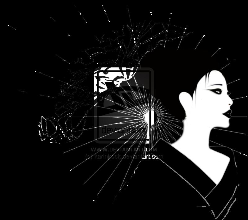 geisha_girl_with_shattering_umbrella_by_karinjrock-d4yi846.png (800×712) ·  Geishas - Geisha PNG