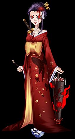 Halloween 2016 Evil Geisha.png - Geisha PNG