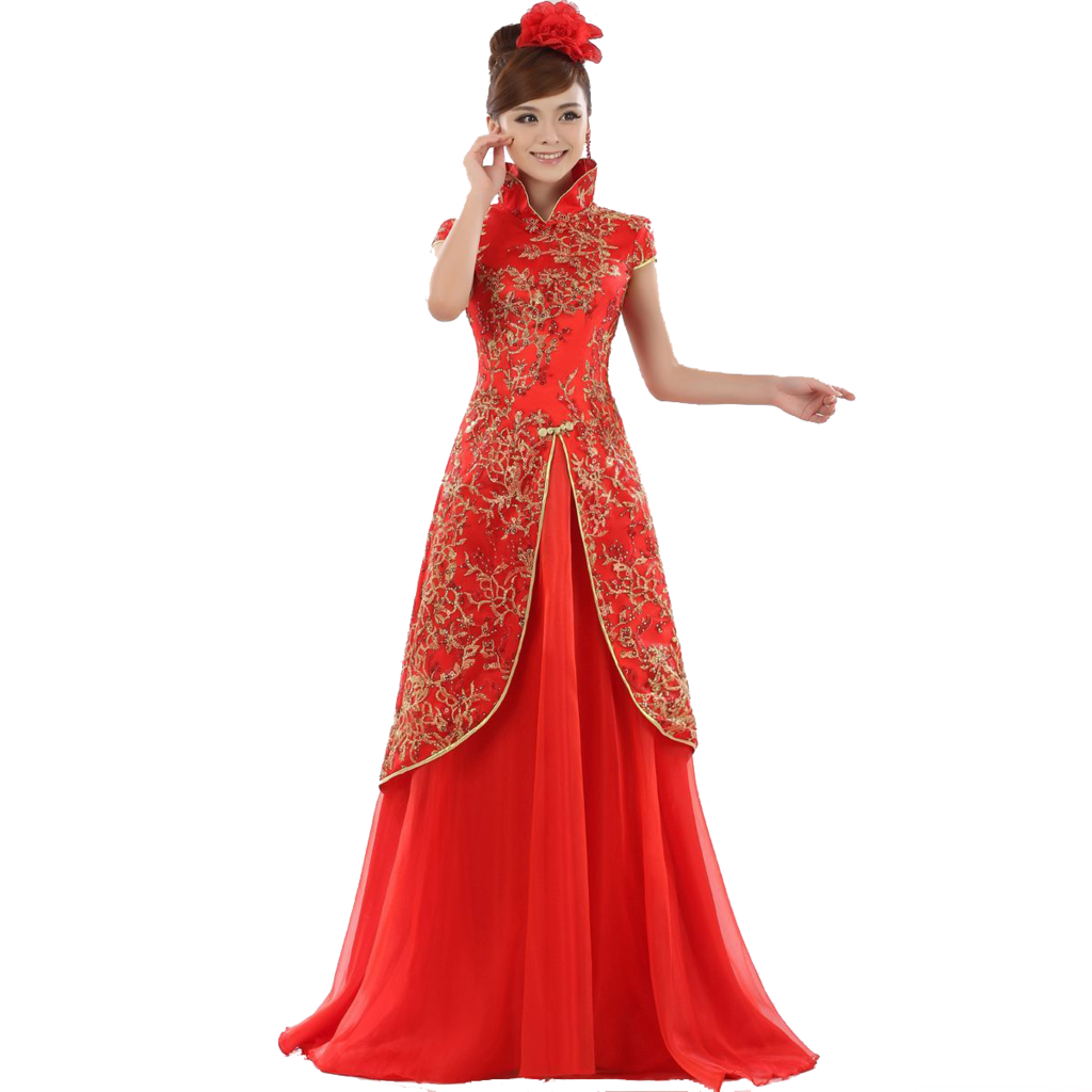 . PlusPng.com the girl in the red dress | geisha png by msoranzhevaya - Geisha PNG