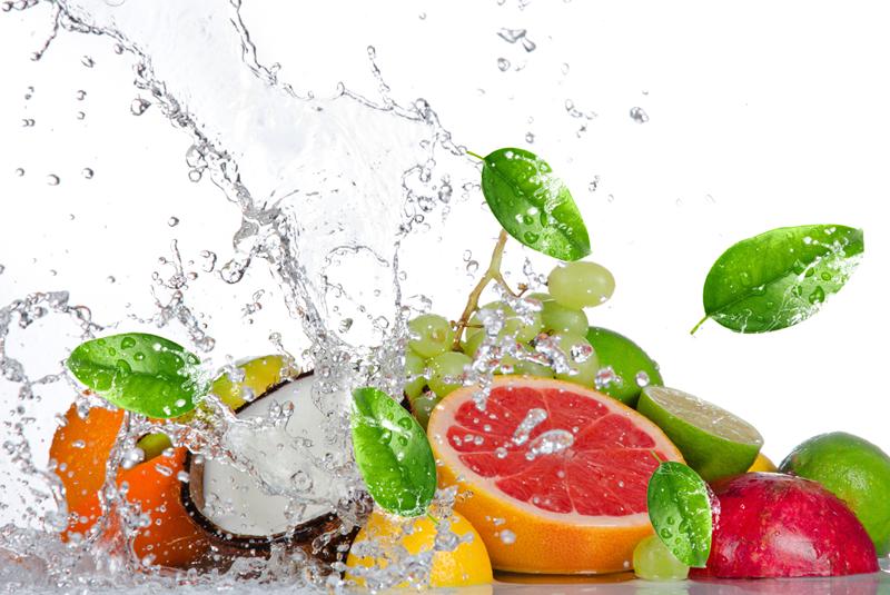 Gemuse and Fruite Wash u2013 Veggies Safe - Fruit Water Splash PNG