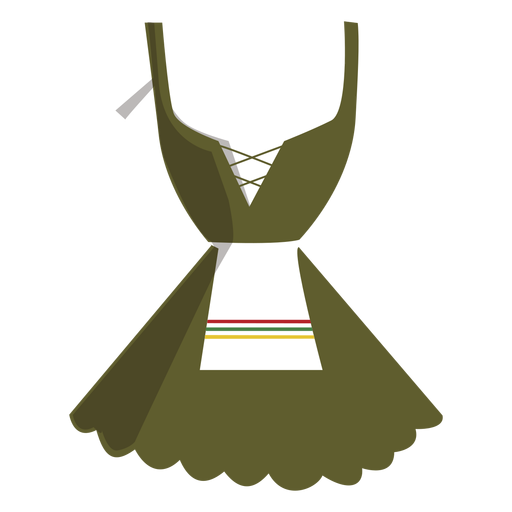 Dirndl typical german dress women - German Lederhosen PNG