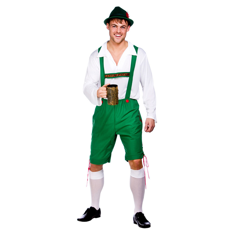 Mens-German-Bavarian-Oktoberfest-Ladies-Beer-Maid-Fancy- - German Lederhosen PNG