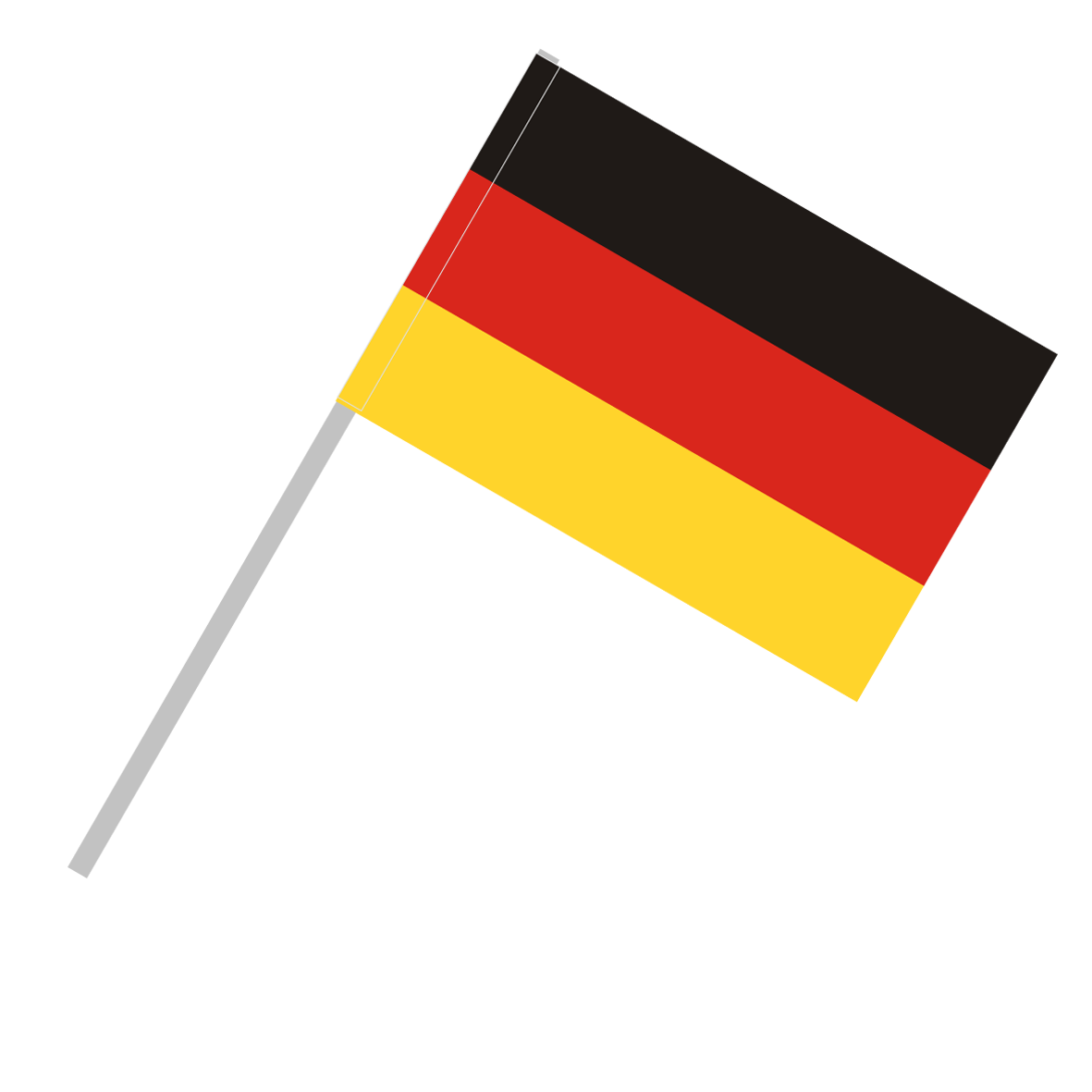 Germany - Flag with flagpole tunnel - Germany Flag PNG