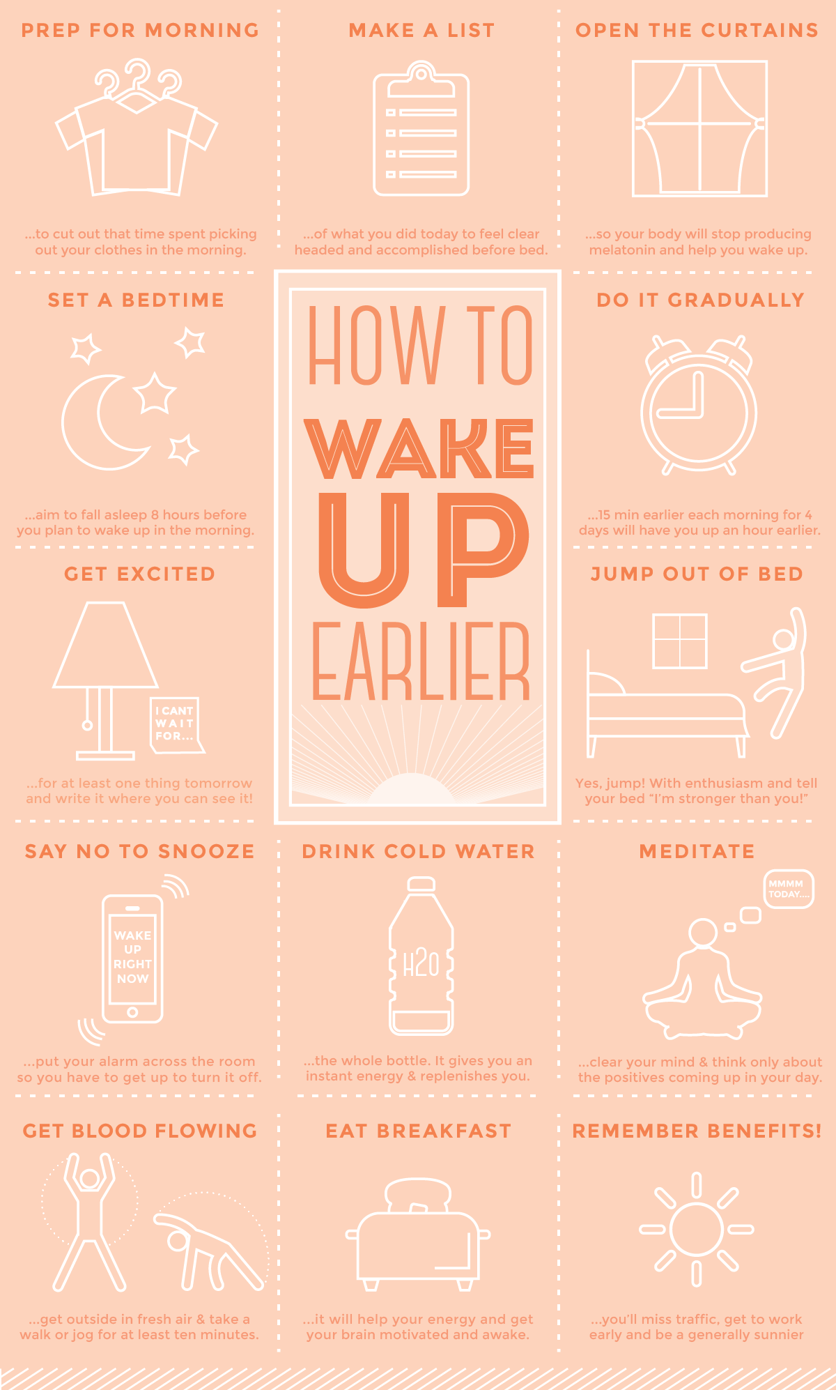 How To Wake Up Earlier - Get Up Early In The Morning PNG