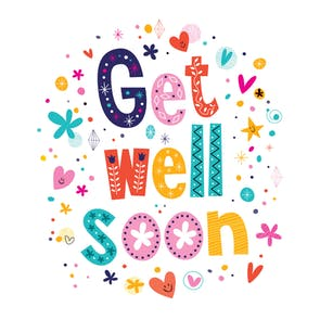 Cheerful Hearts - Get Well Soon Card - Get Well Card PNG