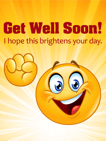 Cheerful Smiley Face Get Well Card - Get Well Card PNG