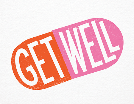 Get Well Pill Card - Get Well Card PNG