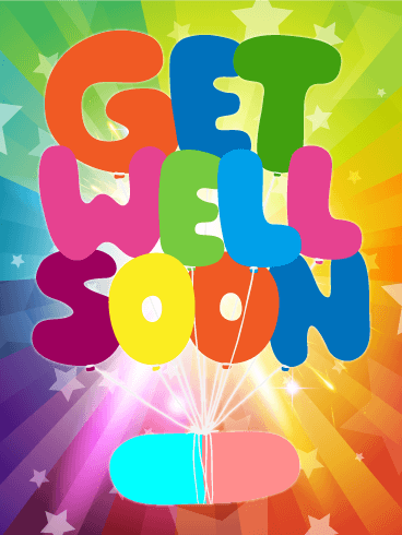 Rainbow Get Well Card - Get Well Card PNG