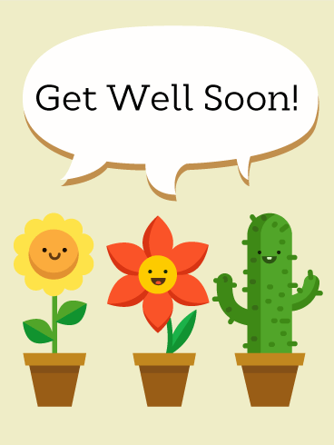Smiley Face Get Well Card - Get Well Card PNG