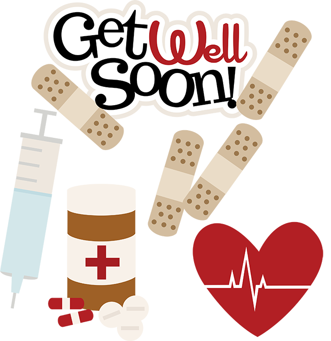Get Well Soon SVG Doctor Svg Files Nurse Svg Files Sick Day Svg Cute Clip  Art Free Svgs - Get Well Soon PNG HD