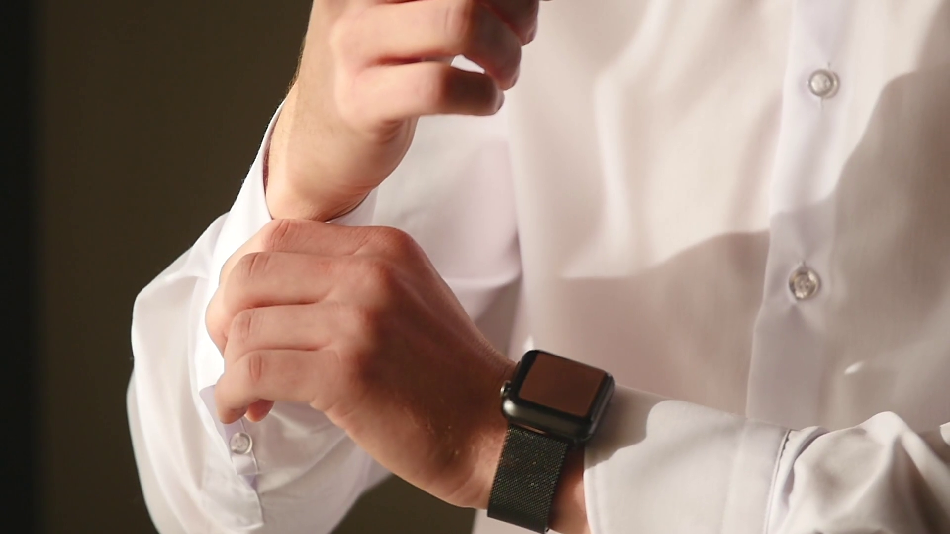Close-up view of young male hands getting dressed at morning. Man buttons  cuffs on a shirt, preparing for wedding Stock Video Footage - VideoBlocks - Getting Dressed PNG HD