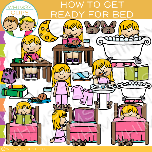 How to Get Ready for Bed Clip Art - Getting Ready For Bed PNG