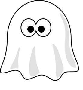 Black And White Ghost Clip Art - Ghost PNG Black And White