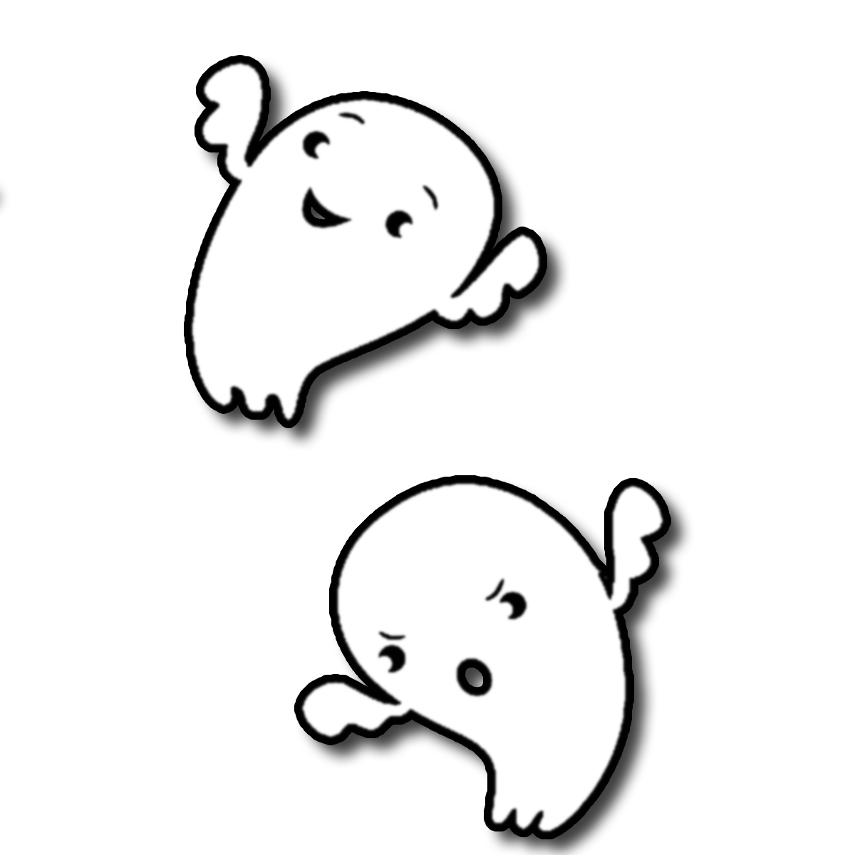 Ghost PNG Black And White - 67209