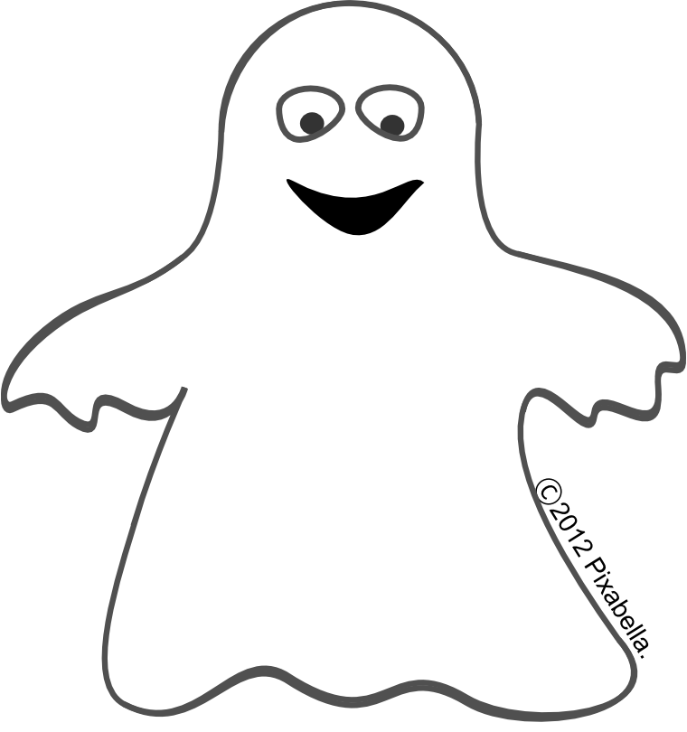 Ghost PNG Black And White - 67207