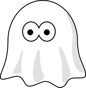 Ghost PNG Black And White - 67208