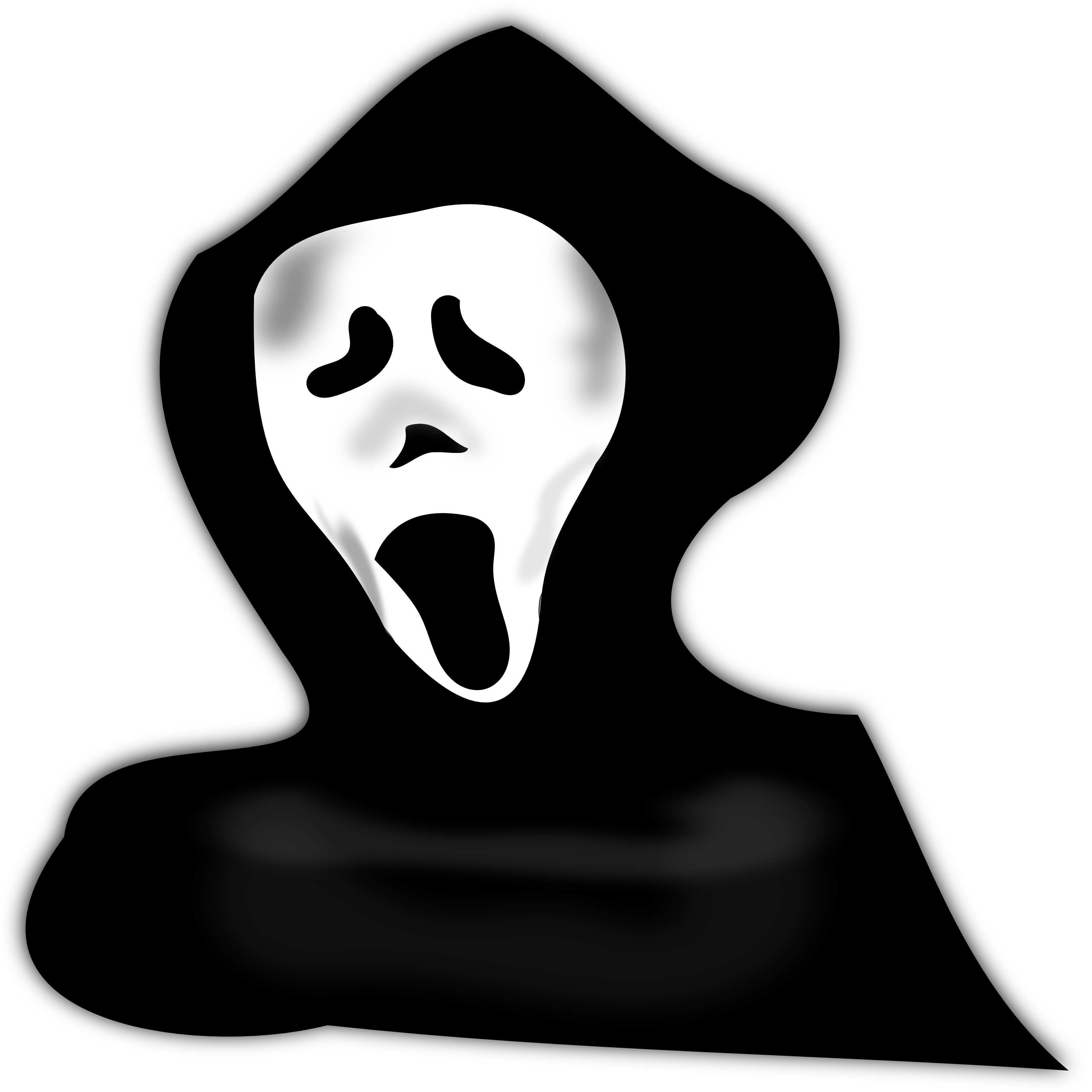 Ghost PNG Black And White - 67204