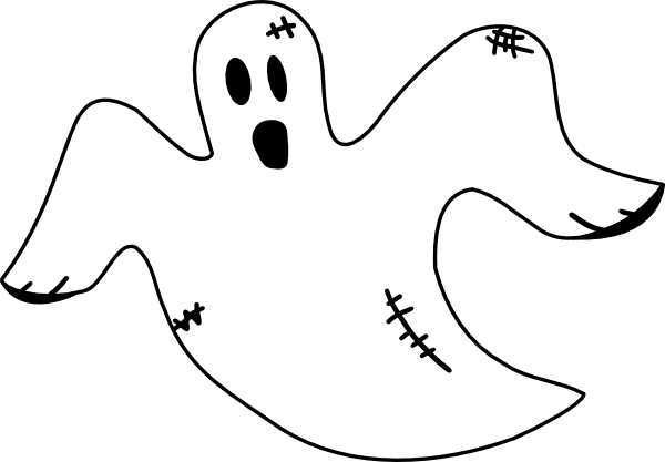 PNG: small · medium · large - Ghost PNG Black And White