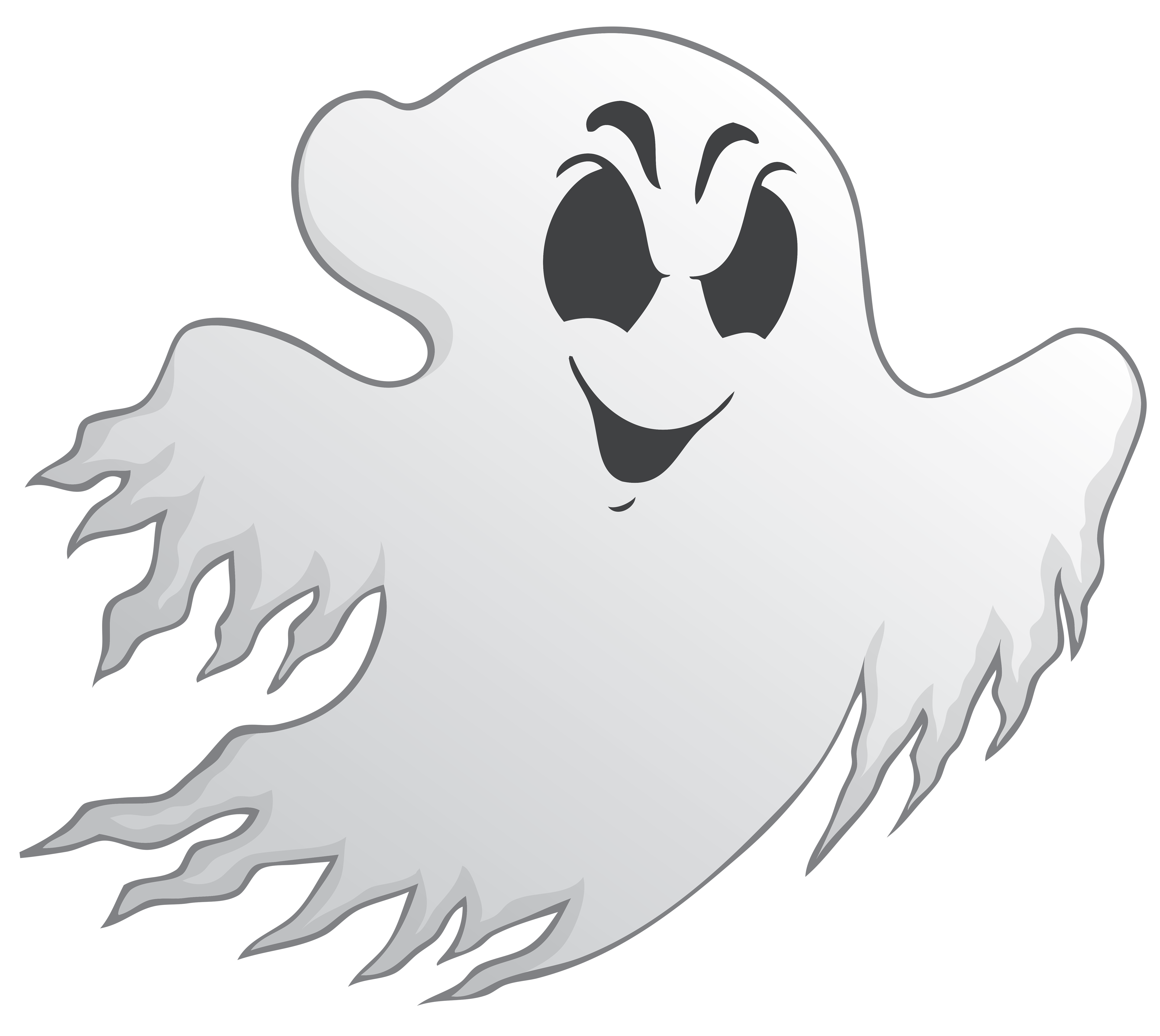 Ghost PNG Black And White - 67211