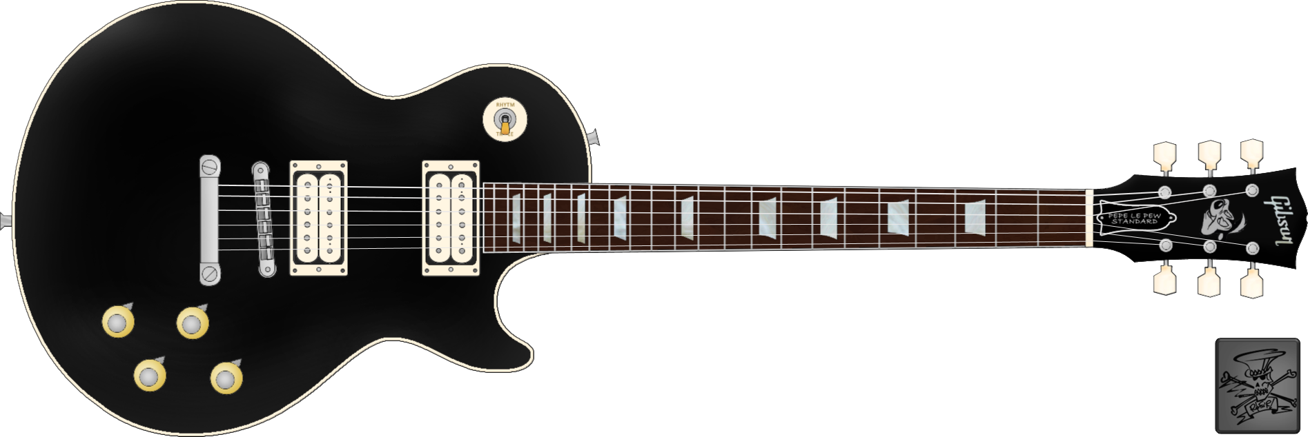 . PlusPng.com Gibson Les Paul Pepe Le Pew Standard by SpillnerLoL - Gibson PNG