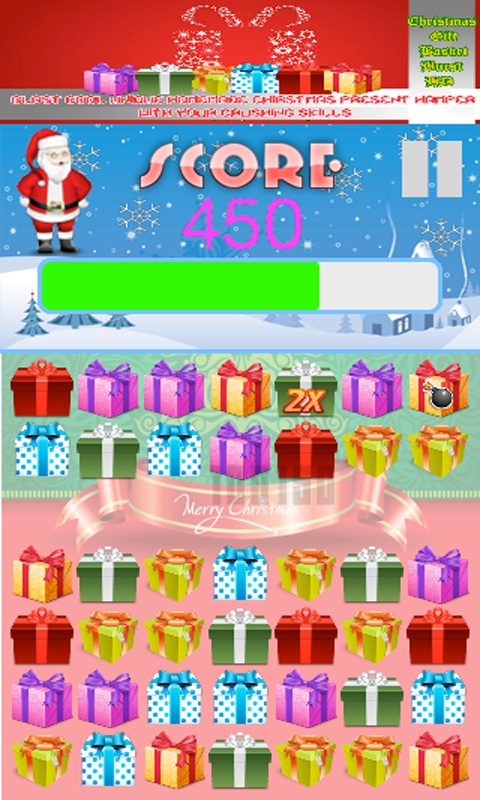 Christmas Gift Basket Burst HD Crush Xmas Present screenshot 3/6 - Gift Basket PNG HD