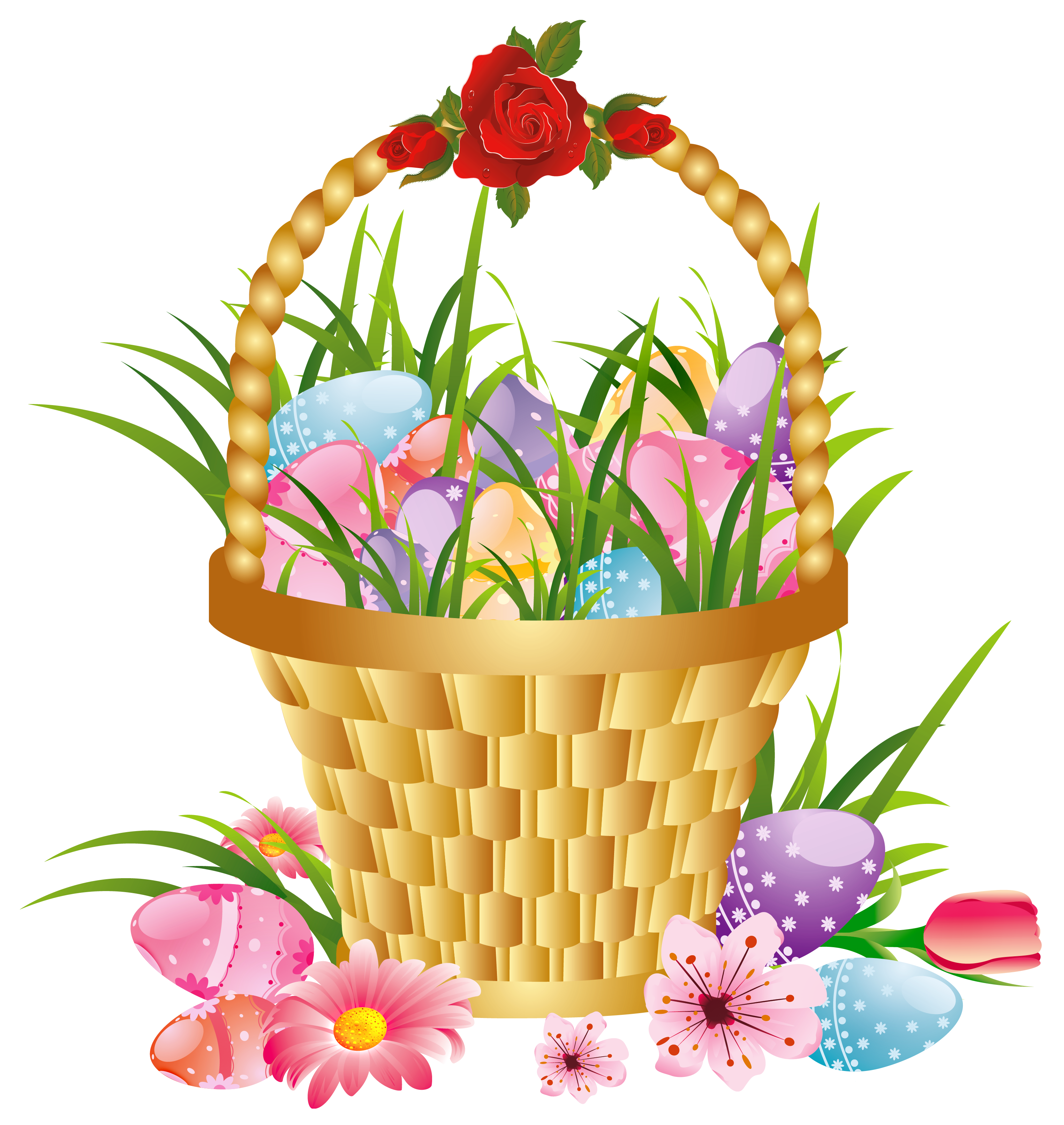 Download PNG image - Easter Basket Bunny Png Hd - Gift Basket PNG HD