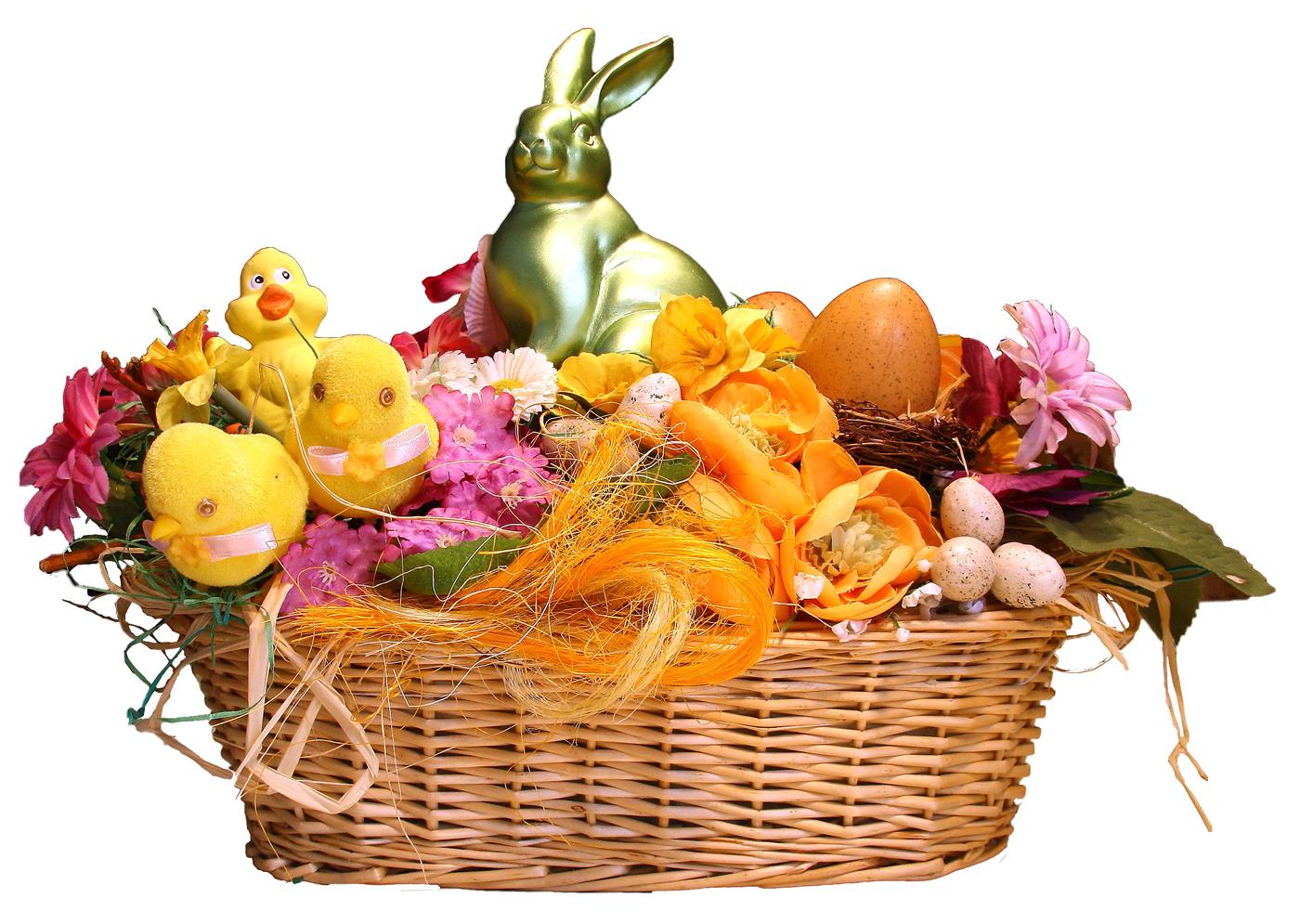 Easter Basket PNG Transparent - Gift Basket PNG HD