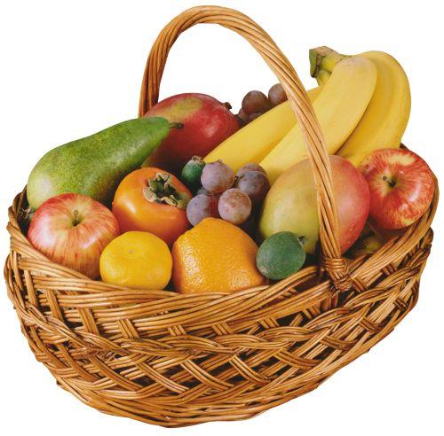 Fruit Basket PNG Clipart - Gift Basket PNG HD
