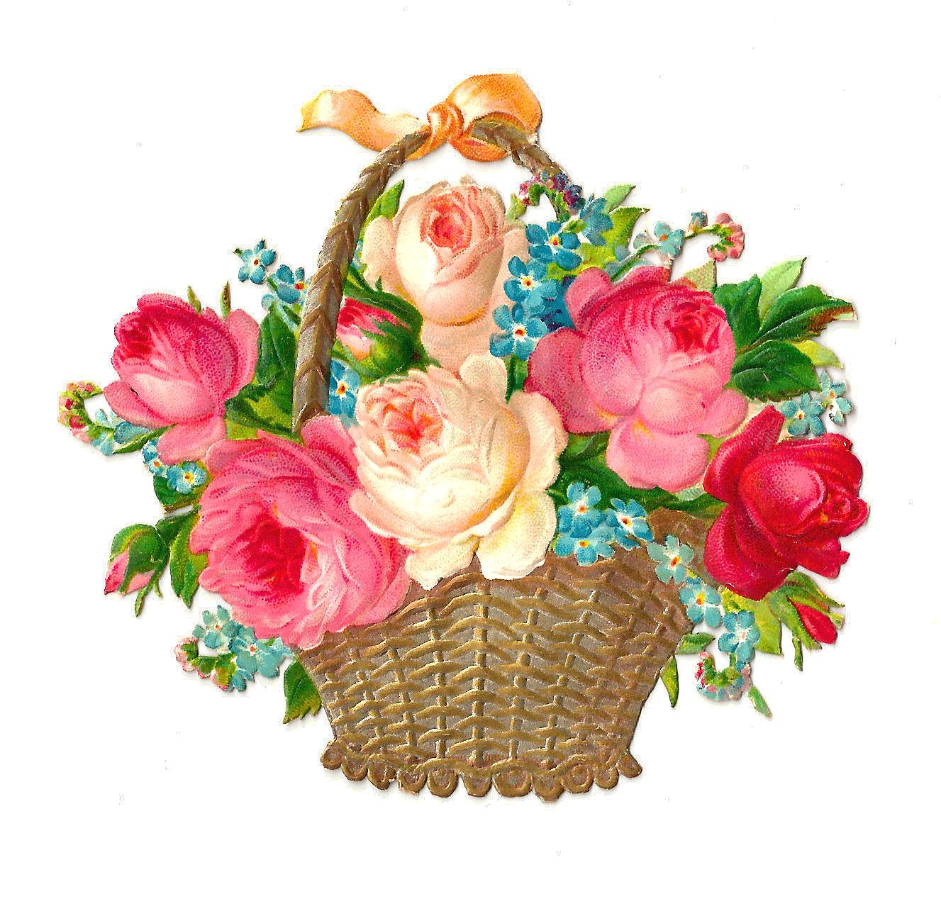 Gift clipart flower basket #8 - Gift Basket PNG HD