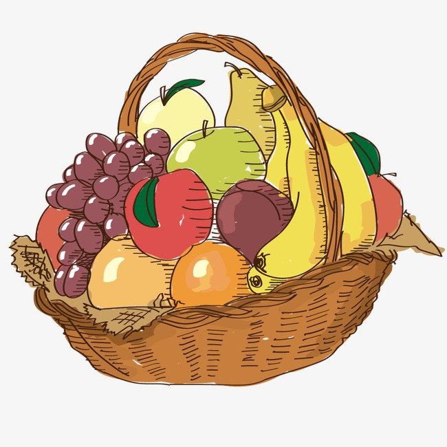 Vector fruit basket, Hd, Vector, Apple Free PNG and Vector - Gift Basket PNG HD